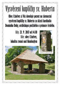 Vysvěcení kapličky sv. Huberta @ Ctiněves, kaple sv. Huberta | Ctiněves | Ústecký kraj | Česko