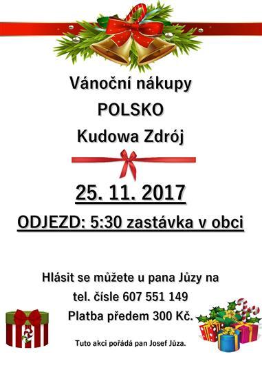 Vánoční nákupy v Polsku (Kurowa Zdrój)