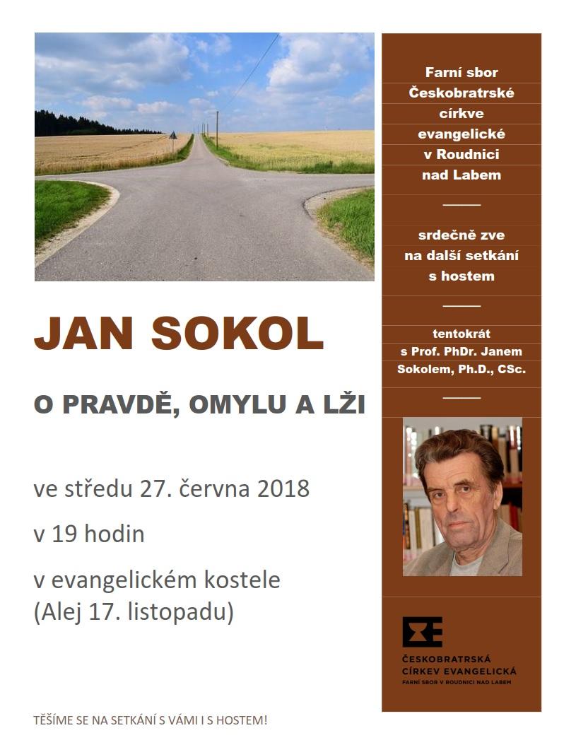 Pozvánka na besedu s Janem Sokolem