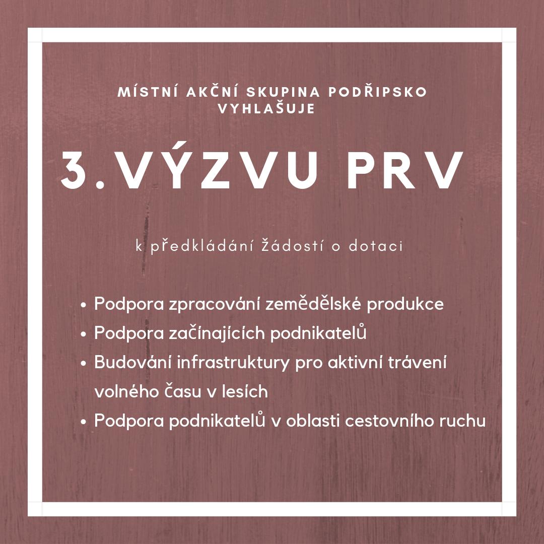 Seznam přijatých žádosti do 3. výzvy PRV MAS Podřipsko