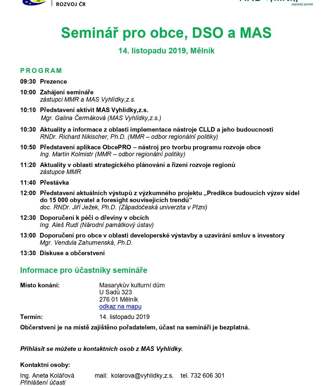 Pozvánka na seminář